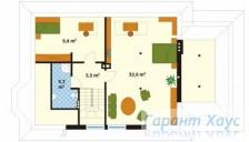 78-proekt.ru - Проект Одноквартирного Дома №125.  План Второго Этажа