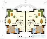 78-proekt.ru - Проект Двухквартирного Дома №20.  План Первого Этажа
