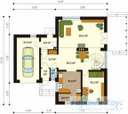 78-proekt.ru - Проект Одноквартирного Дома №260.  План Первого Этажа
