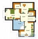 78-proekt.ru - Проект Одноквартирного Дома №160.  План Второго Этажа