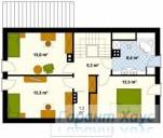 78-proekt.ru - Проект Одноквартирного Дома №175.  План Второго Этажа