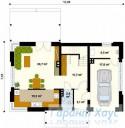 78-proekt.ru - Проект Одноквартирного Дома №176.  План Первого Этажа
