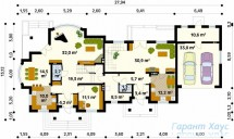 78-proekt.ru - Проект Двухквартирного Дома №3.  План Первого Этажа