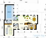 78-proekt.ru - Проект Одноквартирного Дома №78.  План Первого Этажа