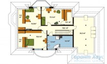 78-proekt.ru - Проект Одноквартирного Дома №18.  План Второго Этажа