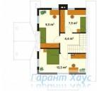 78-proekt.ru - Проект Одноквартирного Дома №11.  План Второго Этажа
