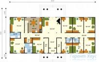 78-proekt.ru - Проект Одноквартирного Дома №235.  План Первого Этажа
