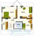 78-proekt.ru - Проект Одноквартирного Дома №172.  План Второго Этажа