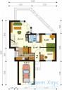 78-proekt.ru - Проект Одноквартирного Дома №262.  План Первого Этажа