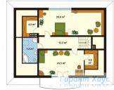78-proekt.ru - Проект Одноквартирного Дома №71.  План Второго Этажа