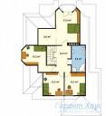 78-proekt.ru - Проект Одноквартирного Дома №255.  План Второго Этажа