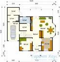 78-proekt.ru - Проект Одноквартирного Дома №202.  План Первого Этажа