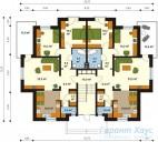 78-proekt.ru - Проект Двухквартирного Дома №13.  План Первого Этажа