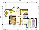 78-proekt.ru - Проект Одноквартирного Дома №20.  План Первого Этажа