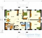78-proekt.ru - Проект Одноквартирного Дома №299.  План Первого Этажа