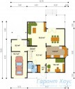 78-proekt.ru - Проект Одноквартирного Дома №305.  План Первого Этажа
