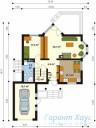 78-proekt.ru - Проект Одноквартирного Дома №170.  План Первого Этажа