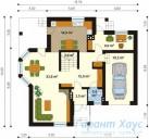 78-proekt.ru - Проект Одноквартирного Дома №328.  План Первого Этажа