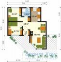 78-proekt.ru - Проект Одноквартирного Дома №283.  План Первого Этажа