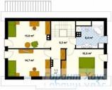 78-proekt.ru - Проект Одноквартирного Дома №177.  План Второго Этажа