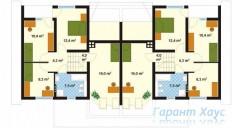 78-proekt.ru - Проект Двухквартирного Дома №4.  План Второго Этажа