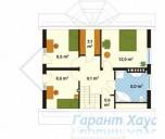 78-proekt.ru - Проект Одноквартирного Дома №275.  План Второго Этажа