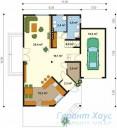 78-proekt.ru - Проект Одноквартирного Дома №295.  План Первого Этажа