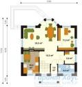 78-proekt.ru - Проект Одноквартирного Дома №90.  План Первого Этажа