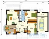 78-proekt.ru - Проект Одноквартирного Дома №123.  План Первого Этажа