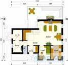 78-proekt.ru - Проект Одноквартирного Дома №1.  План Первого Этажа