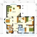 78-proekt.ru - Проект Одноквартирного Дома №127.  План Первого Этажа