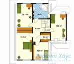 78-proekt.ru - Проект Одноквартирного Дома №295.  План Второго Этажа