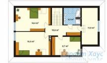 78-proekt.ru - Проект Одноквартирного Дома №88.  План Второго Этажа