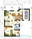78-proekt.ru - Проект Одноквартирного Дома №209.  План Первого Этажа