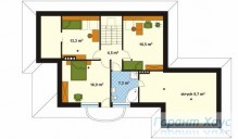 78-proekt.ru - Проект Одноквартирного Дома №14.  План Второго Этажа