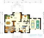 78-proekt.ru - Проект Одноквартирного Дома №326.  План Первого Этажа