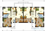 78-proekt.ru - Проект Двухквартирного Дома №9.  План Первого Этажа