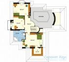 78-proekt.ru - Проект Одноквартирного Дома №199.  План Второго Этажа