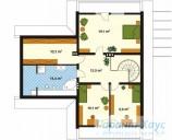 78-proekt.ru - Проект Одноквартирного Дома №260.  План Второго Этажа