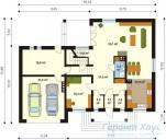 78-proekt.ru - Проект Одноквартирного Дома №5.  План Первого Этажа