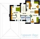 78-proekt.ru - Проект Одноквартирного Дома №23.  План Второго Этажа