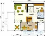 78-proekt.ru - Проект Одноквартирного Дома №189.  План Первого Этажа