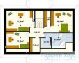78-proekt.ru - Проект Одноквартирного Дома №301.  План Второго Этажа