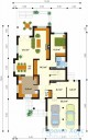 78-proekt.ru - Проект Одноквартирного Дома №264.  План Первого Этажа