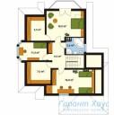 78-proekt.ru - Проект Одноквартирного Дома №108.  План Второго Этажа