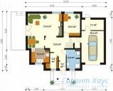 78-proekt.ru - Проект Одноквартирного Дома №227.  План Первого Этажа