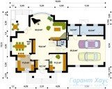 78-proekt.ru - Проект Одноквартирного Дома №38.  План Первого Этажа