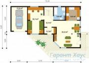 78-proekt.ru - Проект Одноквартирного Дома №272.  План Первого Этажа