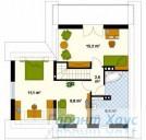 78-proekt.ru - Проект Одноквартирного Дома №195.  План Второго Этажа