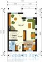 78-proekt.ru - Проект Одноквартирного Дома №308.  План Первого Этажа